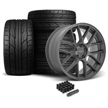 Mustang Velgen VMB7 Wheel & Tire Kit - 20x9/10.5 Matte Gun Metal  (05-14)
