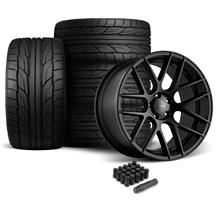 Mustang Velgen VMB7 Wheel & Tire Kit - 20x9/10.5  - Satin Black - NT555 G2 Tires (05-14)