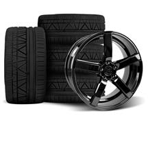 Mustang DF5 Wheel & Tire Kit - 20x8.5/10 Piano Black (05-14)