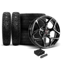 Mustang Race Star 95 Recluse Wheel & Tire Kit - 18x5/17x10.5  - MT ET Street R Tires (15-18)