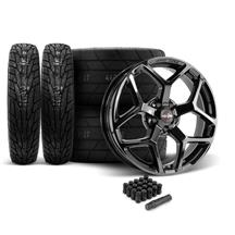 Mustang Race Star 95 Recluse Wheel & Tire Kit - 18x5/17x10.5  - MT ET Street S/S Tires (15-18)