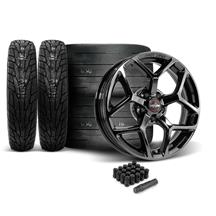 Mustang Race Star 95 Recluse Wheel & Tire Kit - 17x4.5/10.5  - MT ET Street R Tires (15-18)