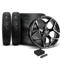 Mustang Race Star 95 Recluse Wheel & Tire Kit - 18x5/17x10.5  - MT ET Street R Tires (05-14)