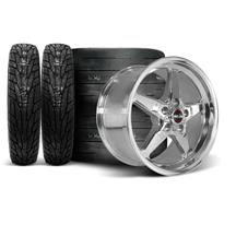 Mustang Race Star Drag Star Wheel & Tire Kit - 18x5/17x9.5  - Polished - M/T Tires (05-14)