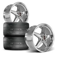 Mustang Race Star Rear Drag Star Wheel & Tire Kit  - Polished (15-18)