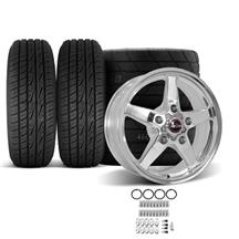 F-150 SVT Lightning Race Star Drag Star Wheel & Tire Kit - 17x7/10.5  - Polished - M/T ET Street...