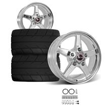 F-150 SVT Lightning Race Star Drag Star Rear Wheel & Tire Kit - 17x10.5  - Polished - MT ET Stre...