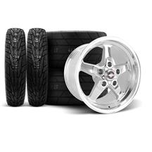 F-150 SVT Lightning Race Star Drag Star Wheel & Tire Kit - 17x4.5/10.5  - Polished - M/T Tires (...