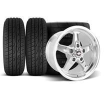 F-150 SVT Lightning Race Star Drag Star Wheel & Tire Kit - 17x7/10.5  - Polished - M/T Tires (00...