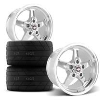 F-150 SVT Lightning Race Star Rear Drag Star Wheel & Tire Kit  - Polished (00-04)