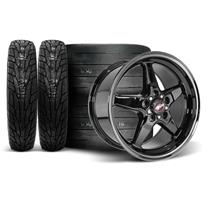 Mustang Race Star Dark Star Wheel & Tire Kit - 18x5/17x9.5  - M/T Tires (05-14)