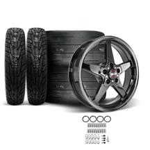 Mustang Race Star Dark Star Wheel & Tire Kit - 18x5/17x10.5  - MT ET Street R Tires (15-18)
