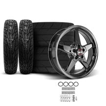 Mustang Race Star Dark Star Wheel & Tire Kit - 18x5/17x10.5  - MT ET Street S/S Tires (15-18)