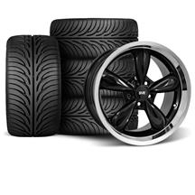 Mustang Bullitt Wheel & Tire Kit - 18x9/10 Black (05-14)