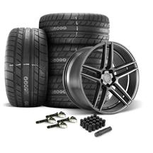 Mustang Velgen Split5 Wheel & Tire Kit - 20x9/10.5  - Matte Gunmetal - MT Street Comp Tires (15-...
