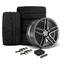 Mustang Velgen Split5 Wheel & Tire Kit - 20x9/10.5  - Matte Gunmetal - Nitto Invo Tires (15-19)