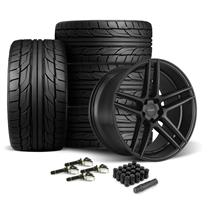 Mustang Velgen Split5 Wheel & Tire Kit - 20x9/10.5  - Satin Black - NT555 G2 (15-18)