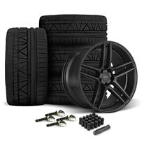Mustang Velgen Split5 Wheel & Tire Kit - 20x9/10.5  - Satin Black - Nitto Invo Tires (15-18)