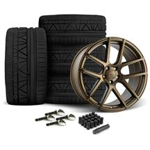 Mustang Velgen VMB5 Wheel & Tire Kit - 20x9/10.5   - Bronze - Invo Tires (15-19)