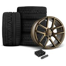 Mustang Velgen VMB5 Wheel & Tire Kit - 20x9/10.5  - Bronze - Invo Tires (05-14)