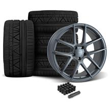 Mustang Velgen VMB5 Wheel & Tire Kit - 20x9/10.5  - Matte Gunmetal - Invo Tires (05-14)