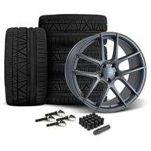 Mustang Velgen VMB5 Wheel & Tire Kit - 20x9/10.5  - Matte Gunmetal - Invo Tires (15-17)