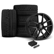 Mustang Velgen VMB5 Wheel & Tire Kit - 20x9/10.5  - Satin Black - Invo Tires (05-14)