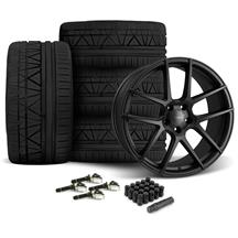 Mustang Velgen VMB5 Wheel & Tire Kit - 20x9/10.5   - Satin Black - Invo Tires (15-17)