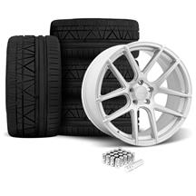 Mustang Velgen VMB5 Wheel & Nitto Invo Tire Kit Silver (05-14)