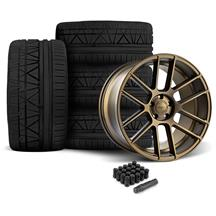 Mustang Velgen VMB6 Bronze 20x9/10.5 Wheel & Invo Tire Kit  - Bronze (05-14)
