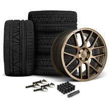 Mustang Velgen VMB7 Wheel & Nitto Invo Tire Kit - 20x9/10.5  Bronze (15-17)