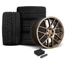 Mustang Velgen VMB7 Wheel & Tire Kit - 20x9/10.5  - Bronze - Invo Tires (05-14)