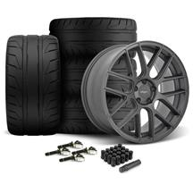 Mustang Velgen VMB7 Wheel & Nitto NT05 Kit - 20x9/10.5 Matte Gun Metal  (15-17)