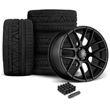 Mustang Velgen VMB7 Wheel & Tire Kit - 20x9/10.5  - Satin Black - Invo Tires (05-14)