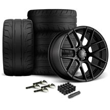 Mustang Velgen VMB7 Wheel & Kit - 20x9/10.5  - Satin Black - NT05 Tires (15-17)