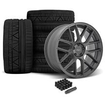 Mustang Velgen VMB7 Wheel & Tire Kit - 20x9/10.5  - Matte Gunmetal - Invo Tires (05-14)