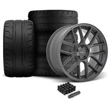 Mustang Velgen VMB7 Wheel & 305 Tire Kit - 20x9/10.5  - Matte Gunmetal - NT05 Tires (05-14)