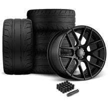 Mustang Velgen VMB7 Wheel & 305 Tire Kit - 20x9/10.5  - Satin Black - NT05 Tires (05-14)