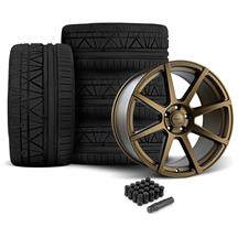 Mustang Velgen VMB8 Wheel & Invo Tire Kit - 20x9/10.5 Bronze (05-14)
