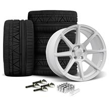 Mustang Velgen VMB8 Wheel & Nitto Invo Kit Silver (15-17)