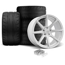 Mustang Velgen VMB8 Wheel & Nitto NT05 Kit Silver (05-14)