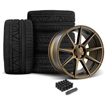 Mustang Velgen VMB9 Wheel & Invo Tire Kit - 20x9/10.5 Bronze (05-14)