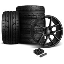 Mustang Velgen VMB5 Wheel & Tire Kit - 20x9/10.5  - Satin Black - NT555 G2 Tires (05-14)