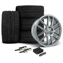 Mustang Velgen VMB6 Wheel & Tire Kit - 20x9/10.5 Matte Gunmetal (15-17)