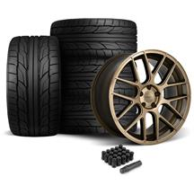 Mustang Velgen VMB7 Wheel & Tire Kit - 20x9/10.5  - Bronze - NT555 G2 Tires (05-14)