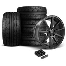 Mustang Velgen VMB9 Wheel & Tire Kit - 20x9/10.5 -Black (05-14)