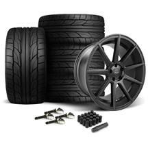 Mustang Velgen VMB9 Wheel & Tire Kit Black (15-17)
