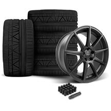 Mustang Velgen VMB9 Wheel & Nitto NT05 Tire Kit Black (05-14)