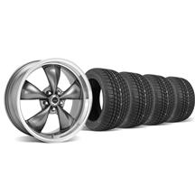 Mustang American Racing  Torque Thrust M Wheel & Tire Kit - 17x9/10.5 Anthracite (94-04)