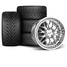 Mustang SVE Series 3 Wheel & Tire Kit - 18x9/10 Chrome (94-04)